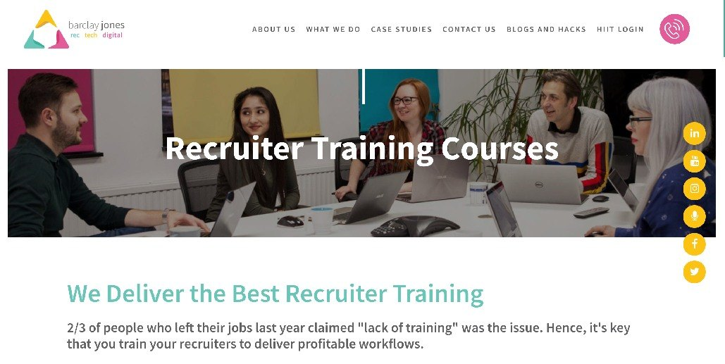 Barclay Jones Recruiter Courses