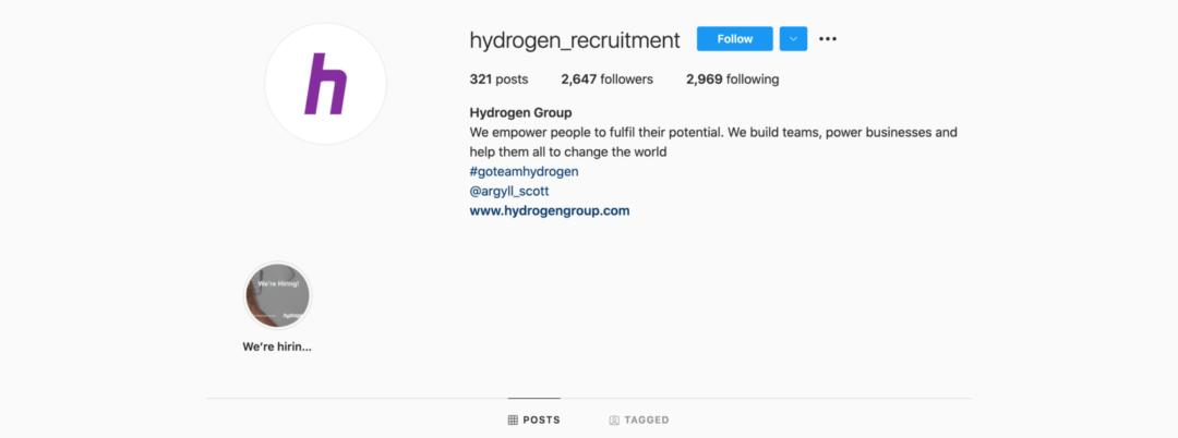 Hydrogen Instagram Header